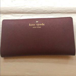 Kate Spade Maroon Leather Wallet